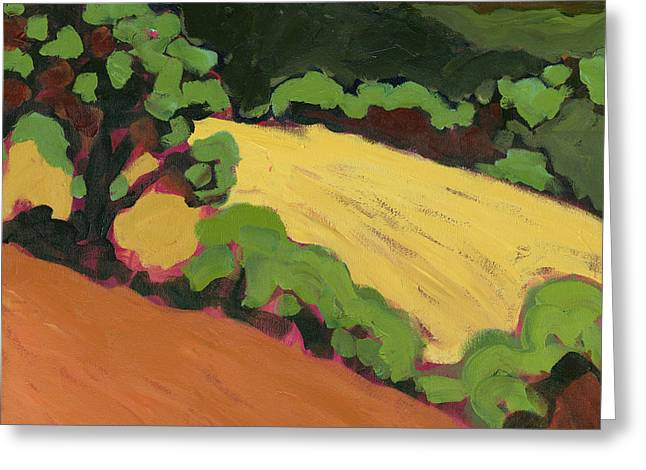 Oak Tree Paintings Greeting Cards - Chip Ross Park Greeting Card by Jennifer Lommers