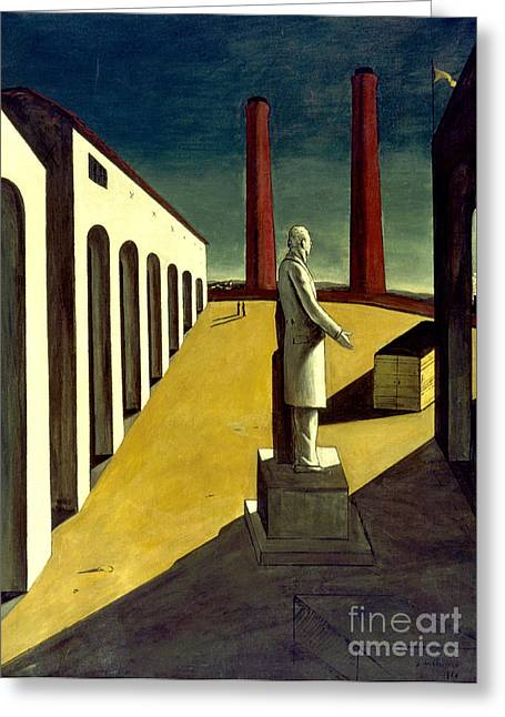 Chirico Greeting Cards - Chirico: Enigma, 1914 Greeting Card by Granger