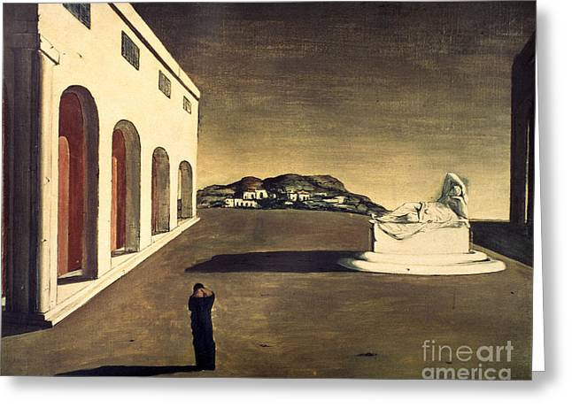 Chirico Greeting Cards - Chirico: Melancolie, 1913 Greeting Card by Granger