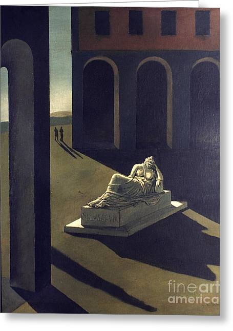 Chirico Greeting Cards - Chirico: Melancolie, 1914 Greeting Card by Granger