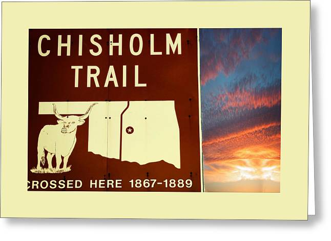 Chisholm Trail Oklahoma Greeting Card by Bob Pardue