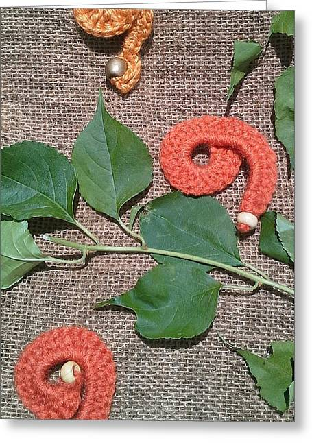Bedroom Tapestries - Textiles Greeting Cards - Chit Chat Fall Greeting Card by Alicia Evans