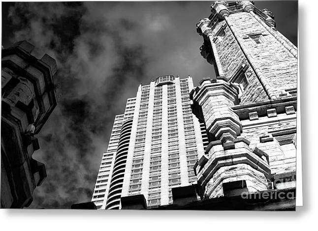Artist Photographs Greeting Cards - ChiTown Architecture Greeting Card by John Rizzuto