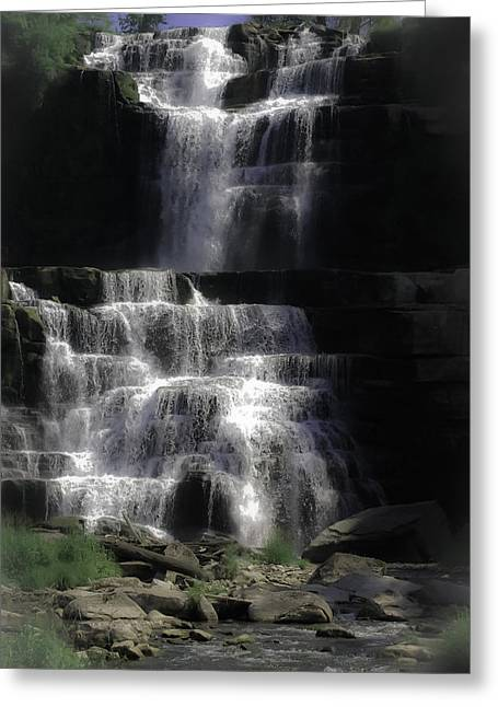 Chittenango Falls Greeting Card by DigiArt Diaries by Vicky B Fuller