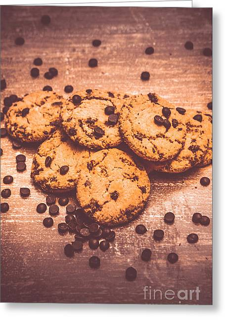 Choc Chip Biscuits Greeting Card by Jorgo Photography - Wall Art Gallery
