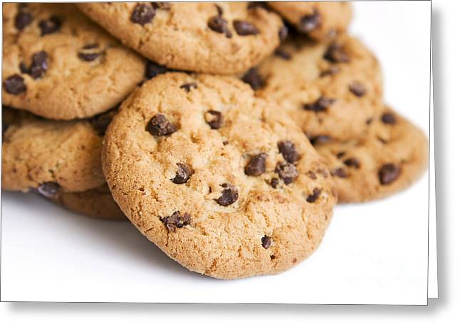 Choc Chip Cookie Mound Greeting Card by Jorgo Photography - Wall Art Gallery