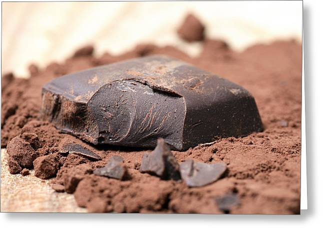 Culinary Photographs Greeting Cards - Chocolate Greeting Card by Frank Tschakert