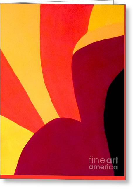 Geometrical Art Greeting Cards - Chocolate Geometry 1 Greeting Card by Jilian Cramb