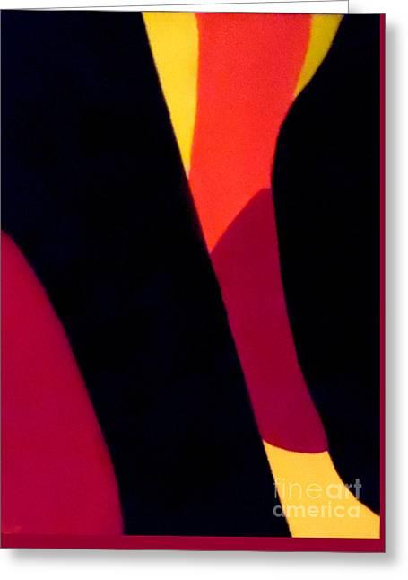 Geometrical Art Greeting Cards - Chocolate Geometry 2 Greeting Card by Jilian Cramb