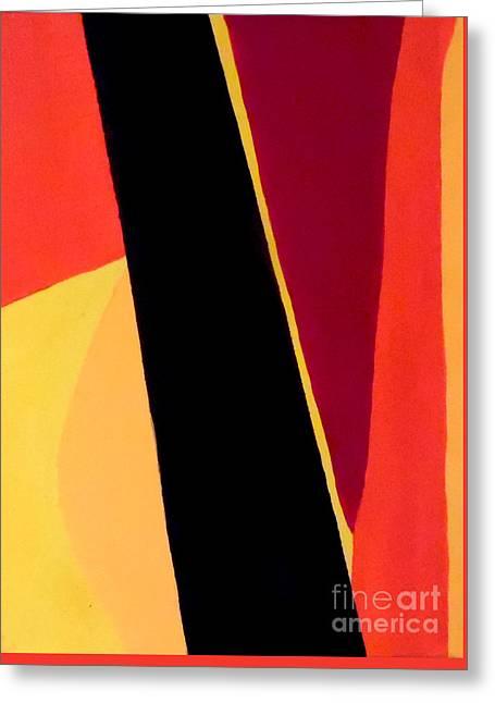 Geometrical Art Greeting Cards - Chocolate Geometry 3 Greeting Card by Jilian Cramb