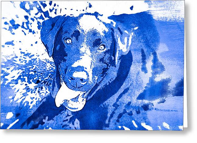 Puppies Photographs Greeting Cards - Chocolate Lab - WCblue Greeting Card by Joye Ardyn Durham