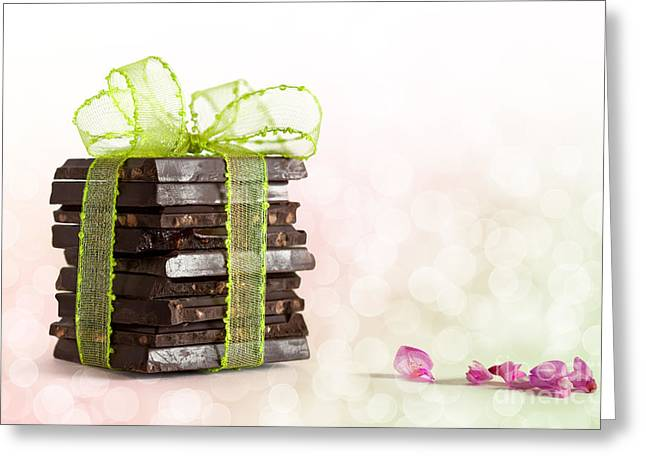 Black Tie Photographs Greeting Cards - Chocolate Greeting Card by Nailia Schwarz