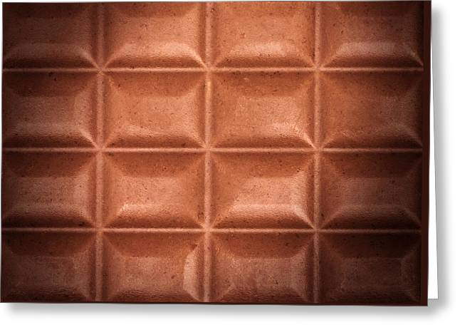 Abstract Food Greeting Cards - Chocolate Greeting Card by Wim Lanclus