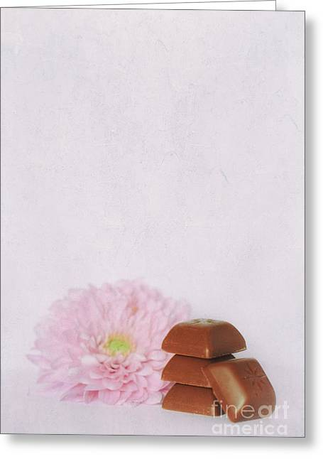 Chocolate With Flower Greeting Card by SK Pfphotography