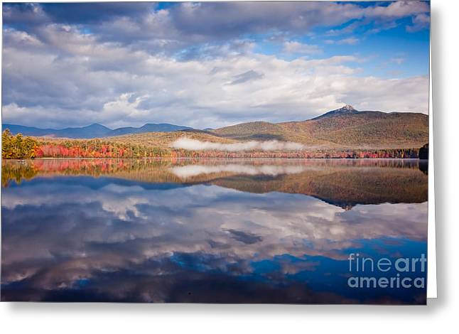 Wild And Scenic Greeting Cards - Chocorua Reflection Greeting Card by Susan Cole Kelly