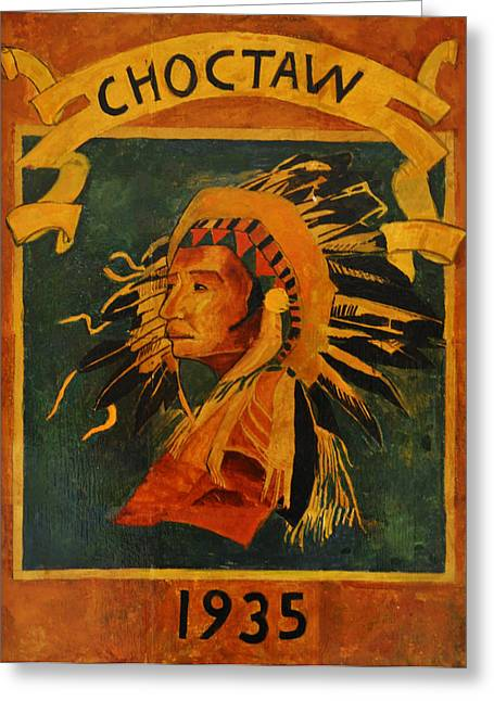 Bill Cannon Greeting Cards - Choctaw 1935 Greeting Card by Bill Cannon