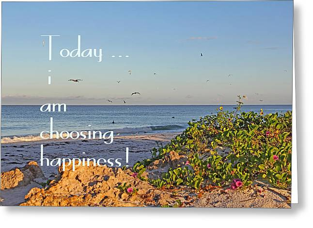 Ocean Art. Beach Decor Greeting Cards - Choices - Inspirational Greeting Card by HH Photography of Florida