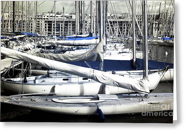 Choices In The Port Greeting Card by John Rizzuto
