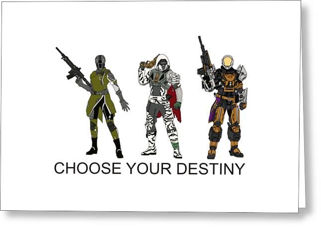 Choose Your Destiny Greeting Card by Priscilla Wolfe