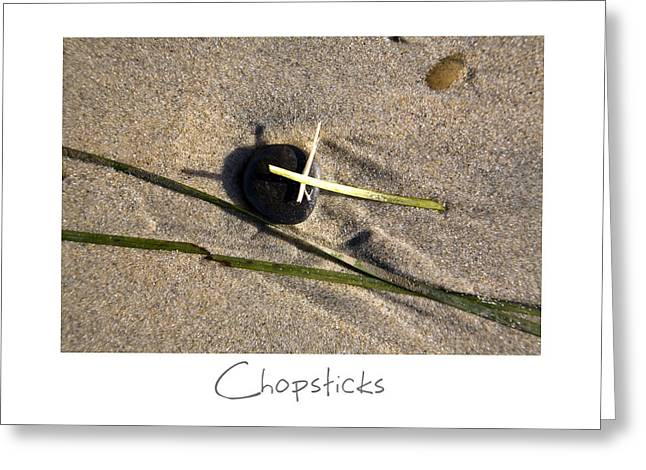 Sand Art Greeting Cards - Chopsticks Greeting Card by Peter Tellone