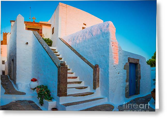 Mediterranean Plants Greeting Cards - Chora Chapel Greeting Card by Inge Johnsson