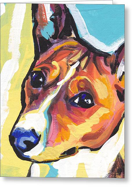 Dog Portraits Greeting Cards - Chortle Baby Greeting Card by Lea