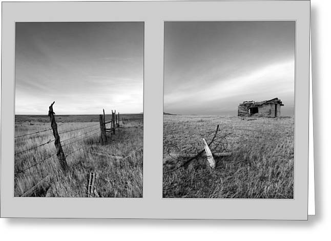 Choteau Diptych Greeting Card by Leland D Howard