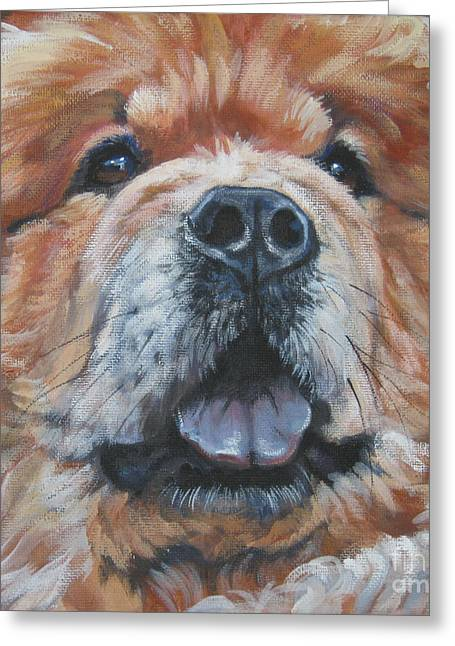 Chow Chow Portrait Greeting Card by Lee Ann Shepard