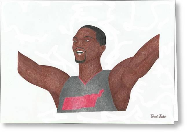 Mvp Drawings Greeting Cards - Chris Bosh Greeting Card by Toni Jaso