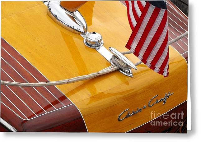 Runabout Greeting Cards - Chris Craft Custom Greeting Card by Neil Zimmerman