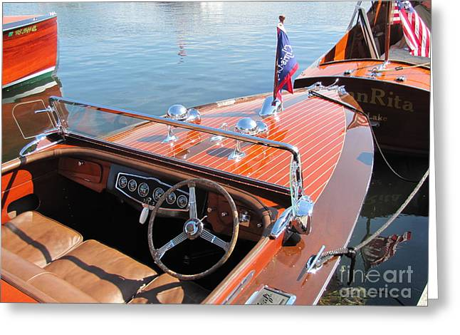 Chris Craft Custom Runabout Greeting Card by Neil Zimmerman