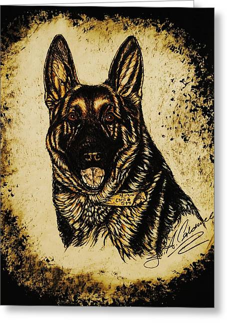Pictures Of Dogs Greeting Cards - Chris Greeting Card by Jac  Jac