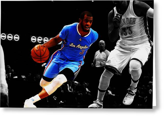 Chris Paul Greeting Card by Brian Reaves