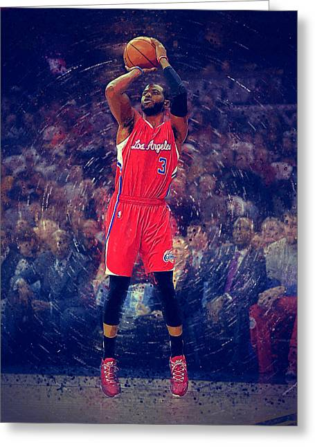 Blake Griffin Greeting Cards - Chris Paul Greeting Card by Semih Yurdabak