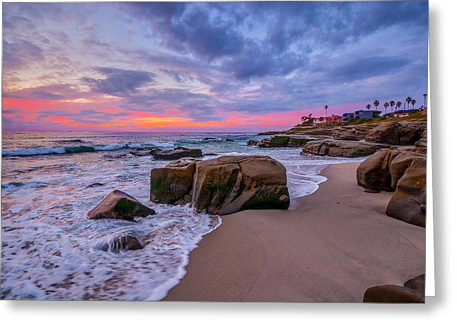 California Beaches Greeting Cards - Chriss Rock Greeting Card by Peter Tellone