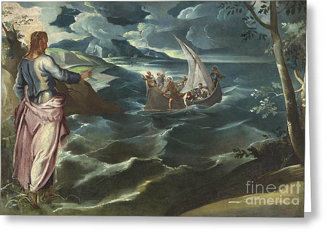 1518 Greeting Cards - Christ at the Sea of Galilee Greeting Card by Celestial Images