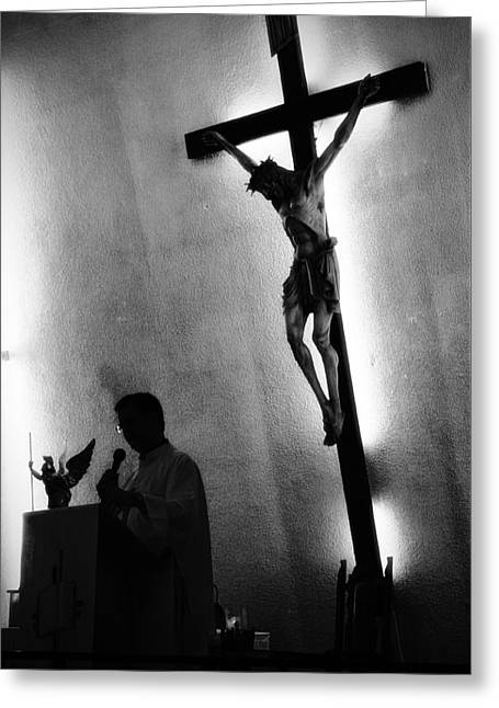 Bible Greeting Cards - Christ Greeting Card by Ivan Alberto Herrera Sainz