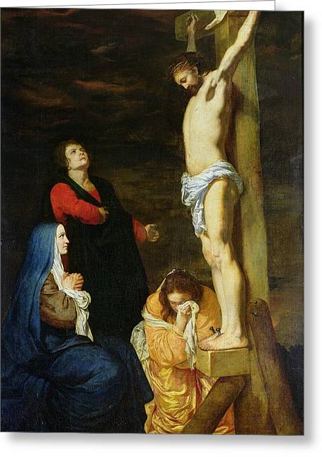 1640 Greeting Cards - Christ on the Cross Greeting Card by Gerard de Lairesse