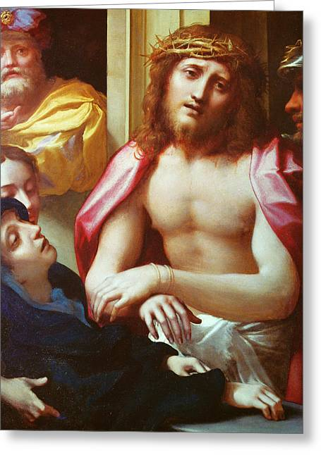 Christ Presented To The People Greeting Card by Correggio