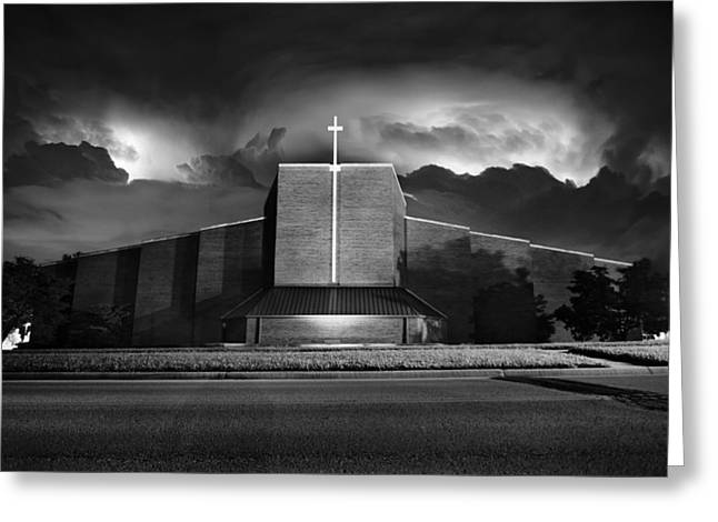 Zimmerman Greeting Cards - Christ the King Topeka Greeting Card by Thomas Zimmerman