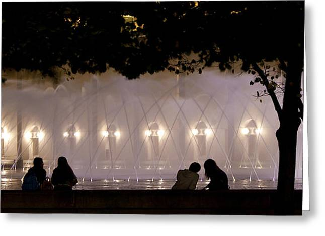 Summer Scene Greeting Cards - Christian Science Center Fountain - Back Bay - Boston Greeting Card by Joann Vitali