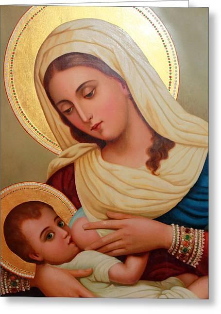Baby Jesus Greeting Cards - Christianity - Baby Jesus Greeting Card by Munir Alawi