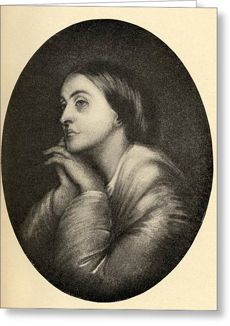 Rossetti Greeting Cards - Christina Georgina Rossetti, 1830-1894 Greeting Card by Ken Welsh