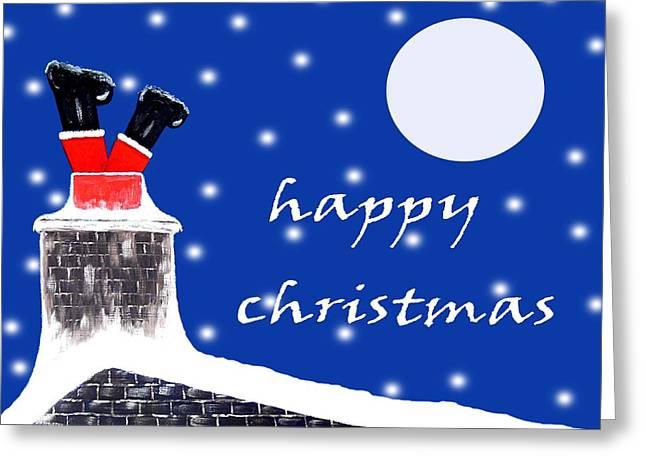 Christmas Mixed Media Greeting Cards - Christmas 8 Greeting Card by Patrick J Murphy