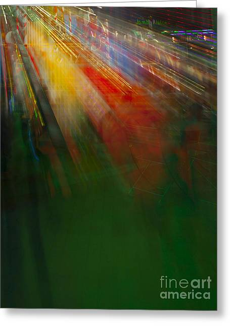 Collaborative Greeting Cards - Christmas Abstract Greeting Card by Greg Kopriva