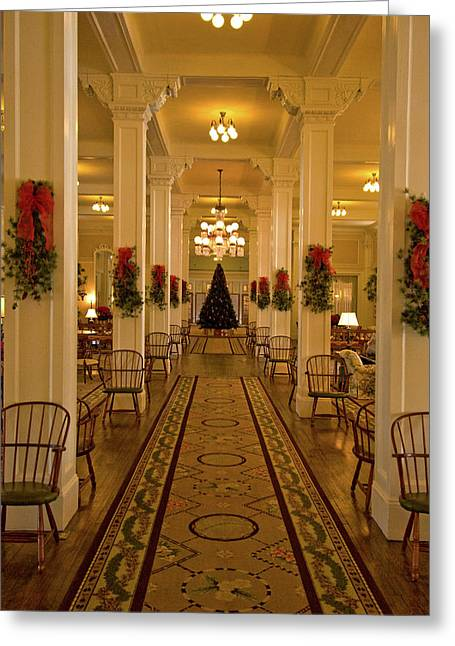 The Mount Washington Hotel Greeting Cards - Christmas at The Mount Washington Hotel Greeting Card by Paul Mangold