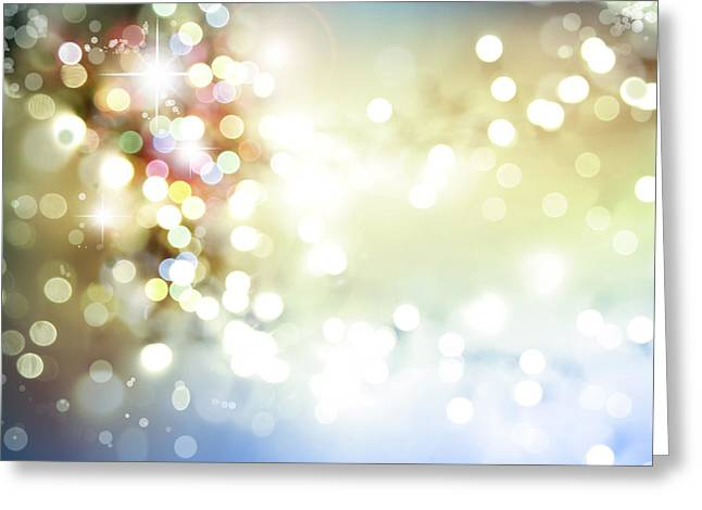 Twinkle Greeting Cards - Christmas background Greeting Card by Les Cunliffe