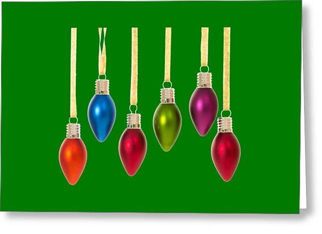 T Shirts Greeting Cards - Christmas Baubles Tee Greeting Card by Edward Fielding