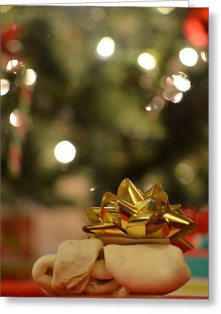Toy Dog Greeting Cards - Christmas Bone Greeting Card by Luke Pickard