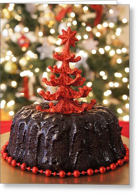 Christmas Cake Greeting Card by Art Spectrum